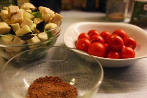 Grøntsager til arabisk fusion
