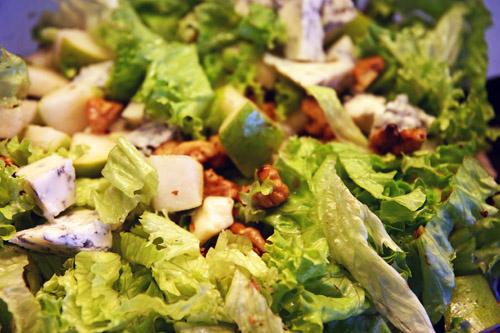 Pære, Valnød, Skimmelost salat