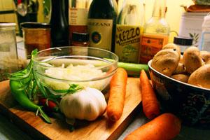Ingredienser til Transylvansk Gullasch