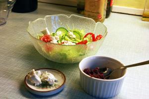 Salat, Feta og Rødkål