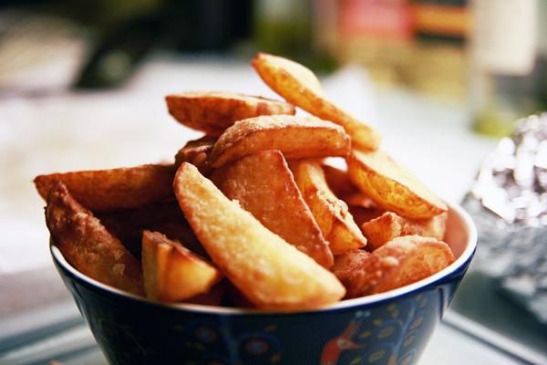 Dobbeltstegte Hjemmelavede Pommes Frites