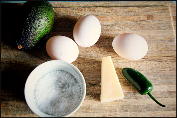 Ingredienser til Omelet
